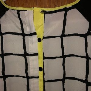 Maurices Tops - Tank with neon trim, button up the back